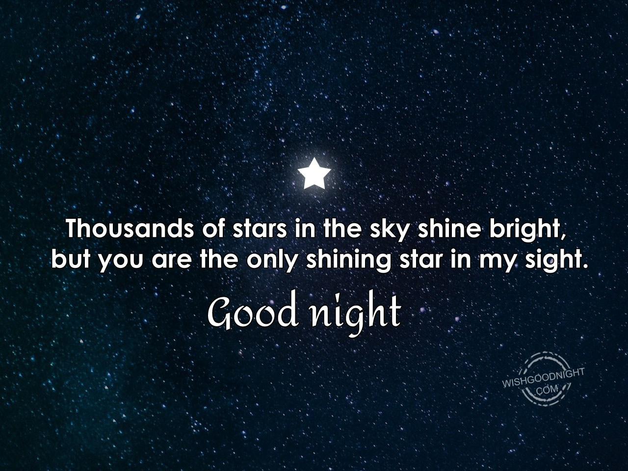Thousands of stars in the sky shine bright - Good Night Pictures – WishGoodNi...