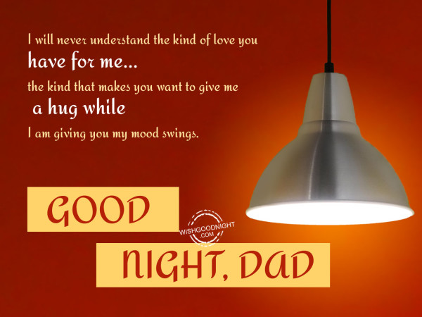 I love you dad,Good Night