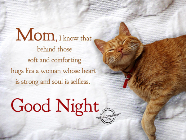 Mom you have always pushed me to be my best. Good Night