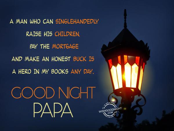 My dad is hero,Good Night