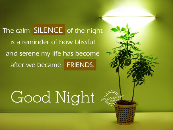 Silence of the night is reminder, Good Night