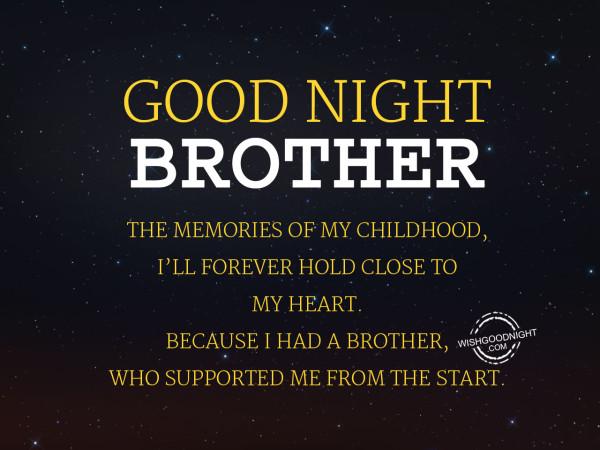 The memories of my childhood.Good Night