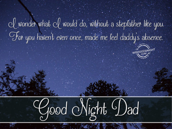 Dad like you, Good Night Dad
