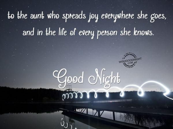 Spred joy everywhere, Good Night Aunt