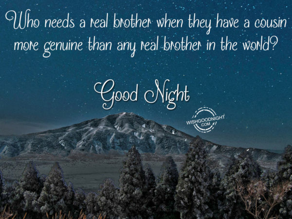 Who needs a real brother, Good Night