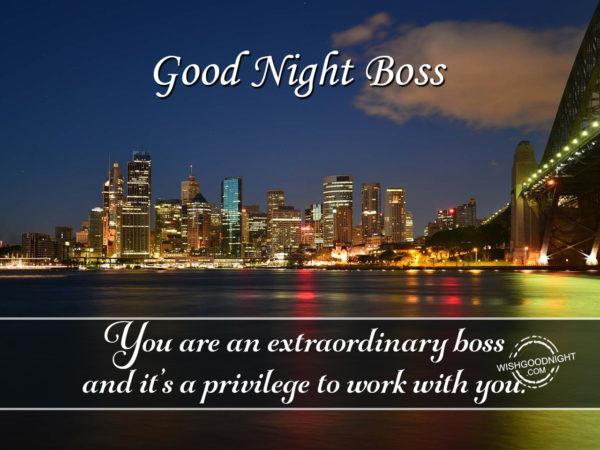You are an extraordinary boss, Good Night Boss